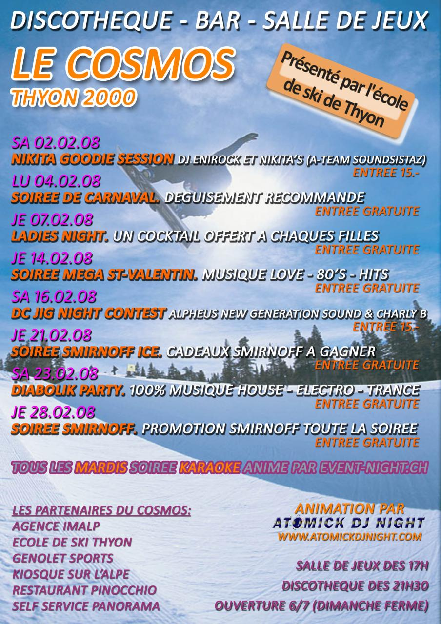 Programme Février 2008 Cosmos